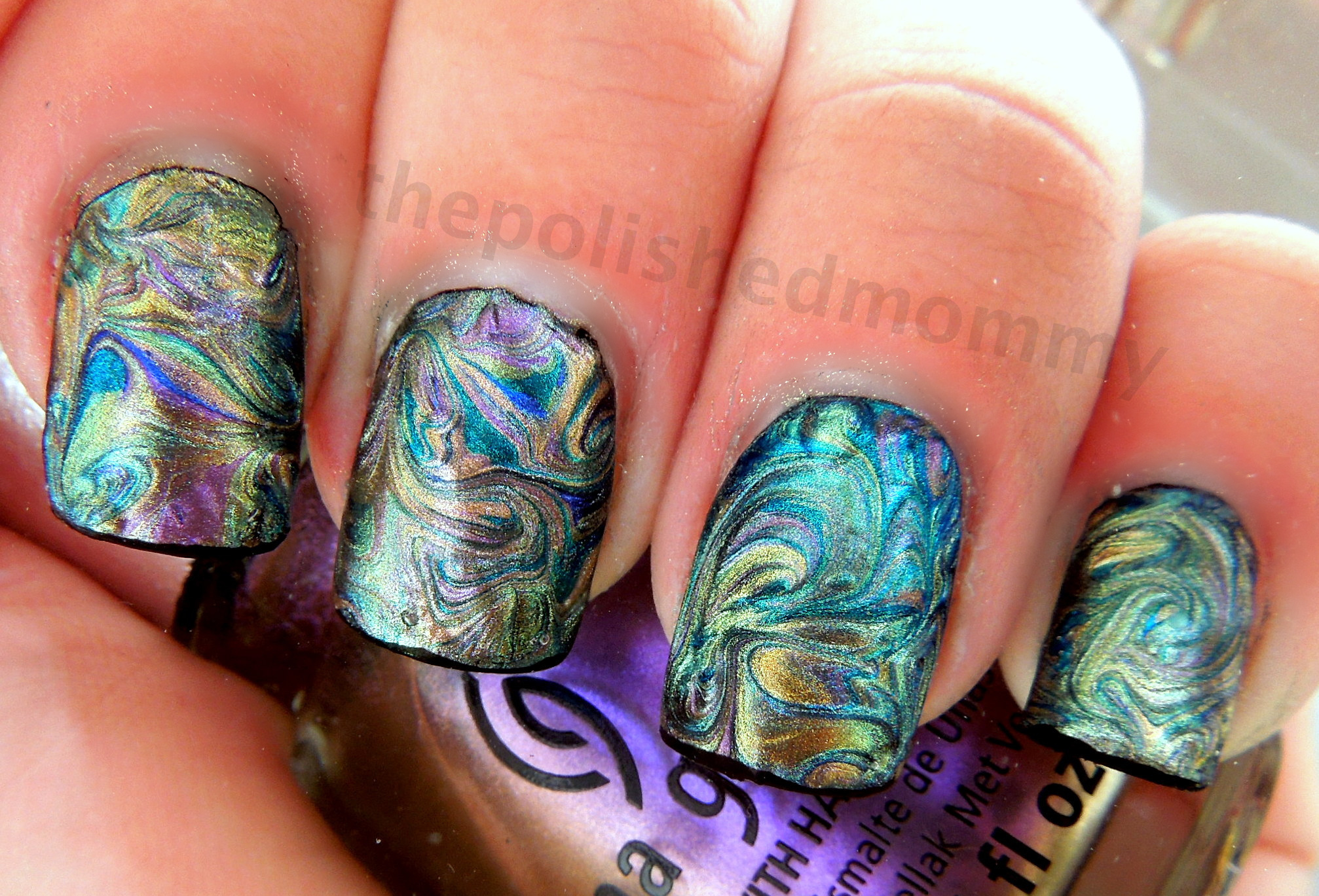 How to create dry marble nail designs the polished mommy prinsesfo Images