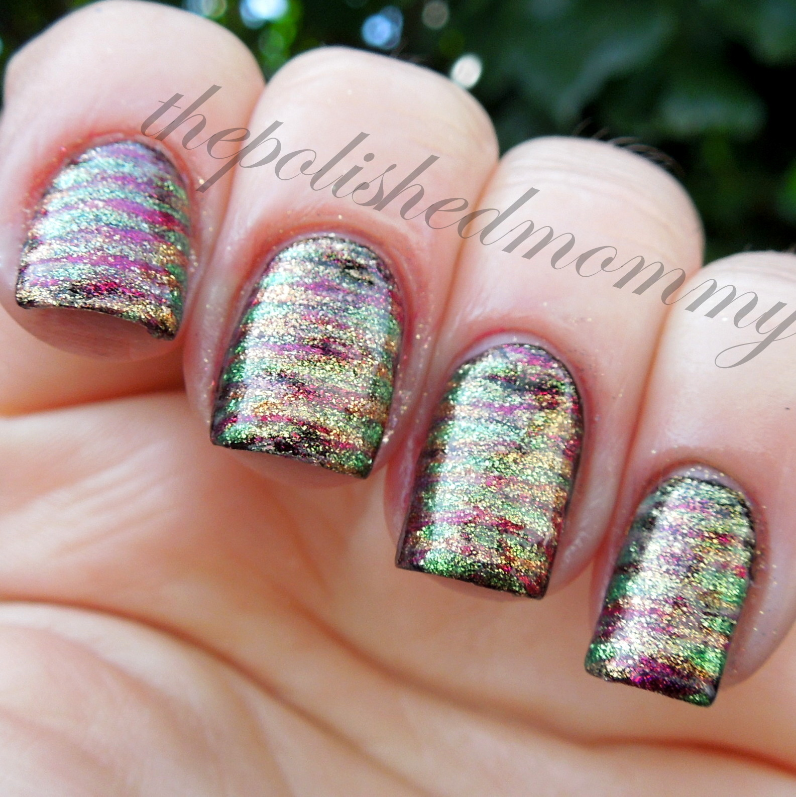 Lucky stripes the polished mommy fan brush nail art tutorial base color is pure ice black out then i striped over it with pure ice lost in vegas poker face viva las vegas and vegas prinsesfo Image collections