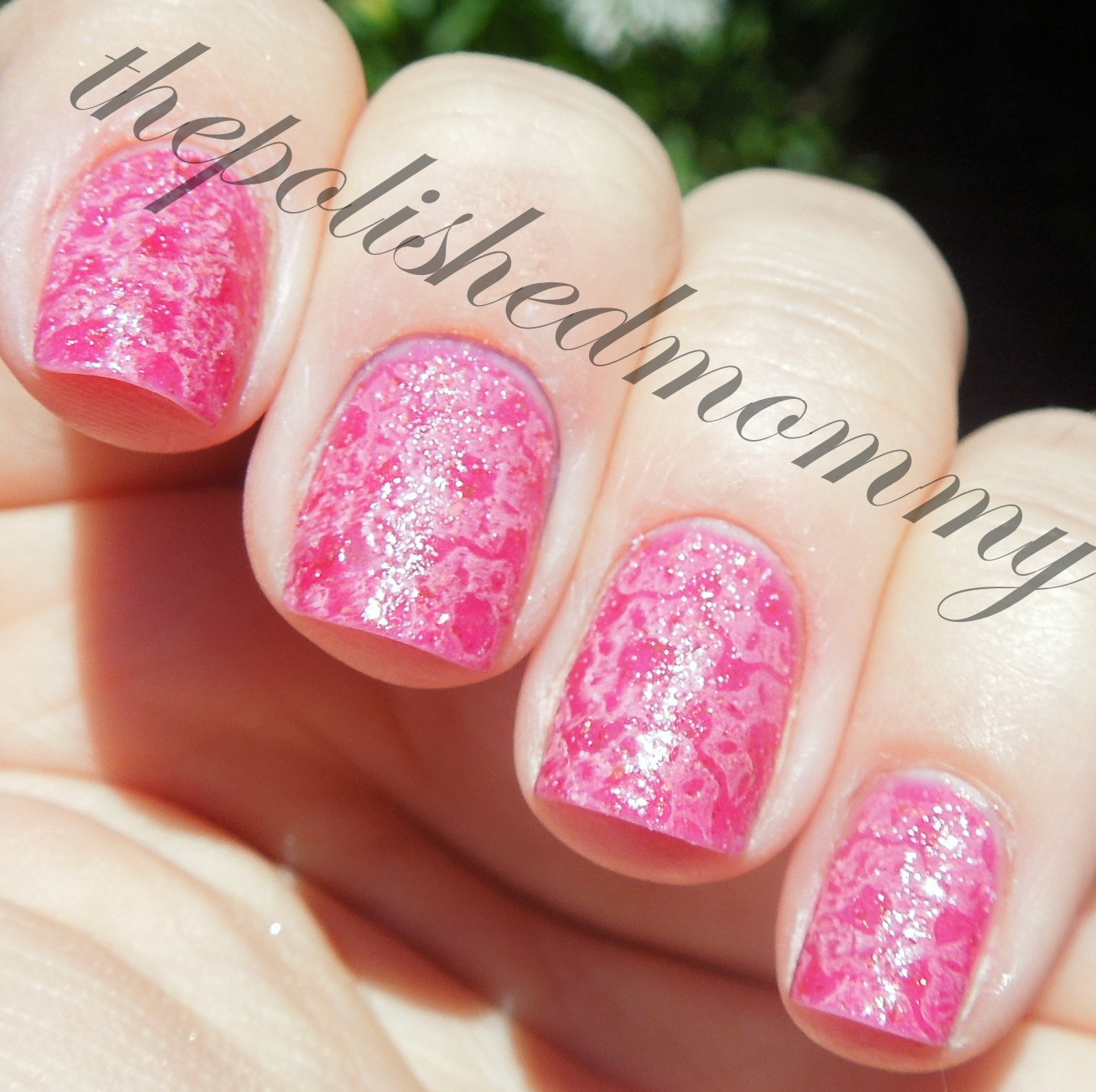 Nails to match my hair the polished mommy - Neon Pink Sprinkle Flowers The Polished Mommy