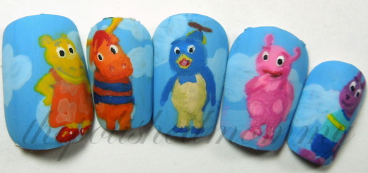 nail art august characters The Backyardigans-005