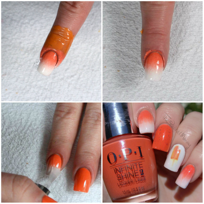 opi creamsicle tutorial