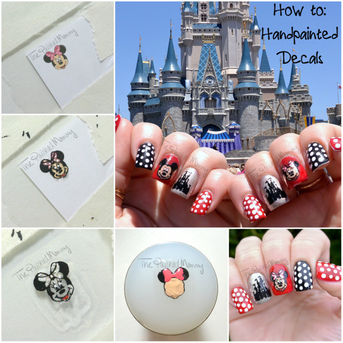 Disney handpainted decal-001