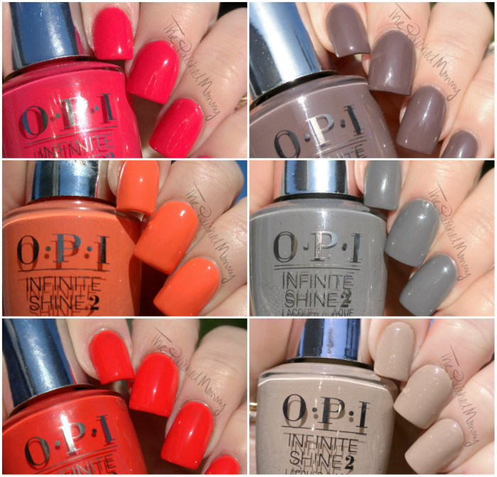 opi inifinite shine swatches