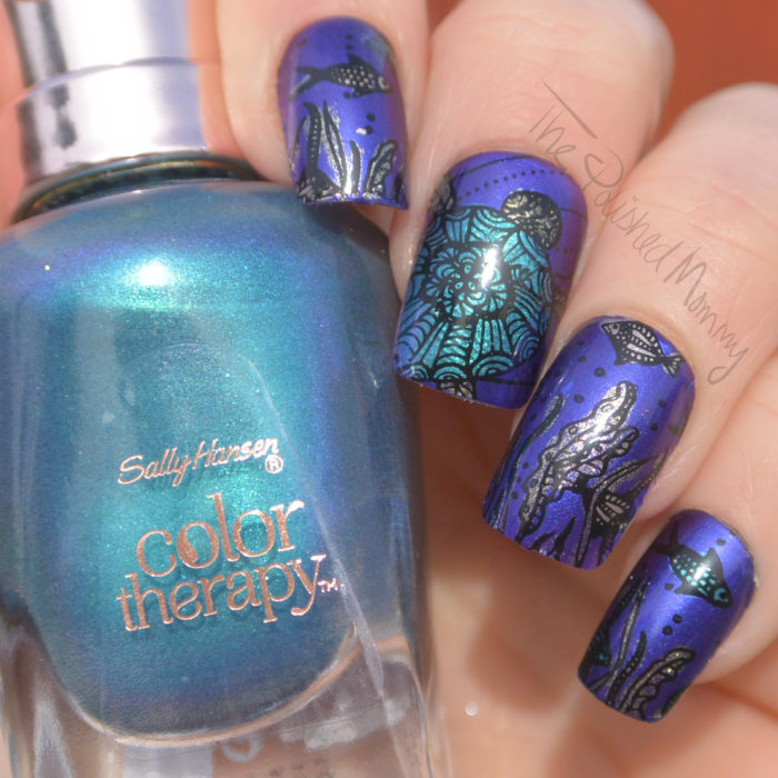 The Colors I Received Reminded Me Of Mermaids Ocean So Went With It And Created An Underwater Mani All 4 Color Therapy Shades Using