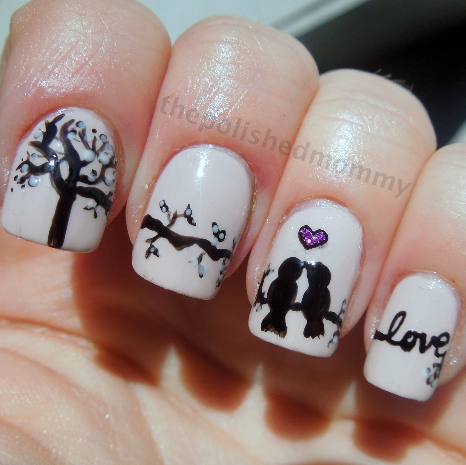 Love Birds Nail Art