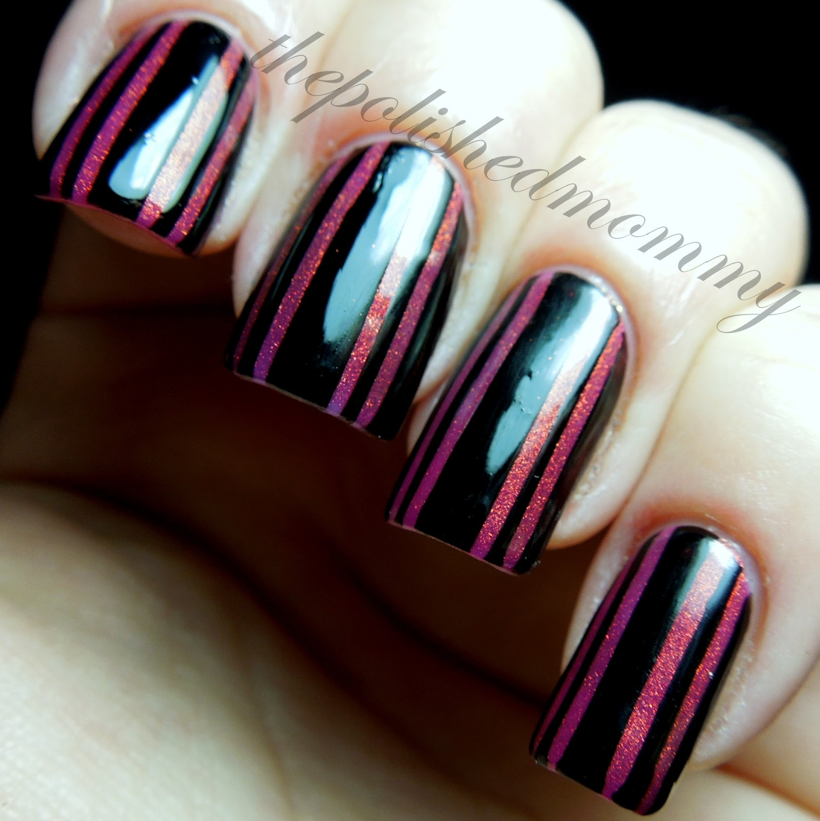 Striping Tape Nail Art Tutorial: Striped Perfection...
