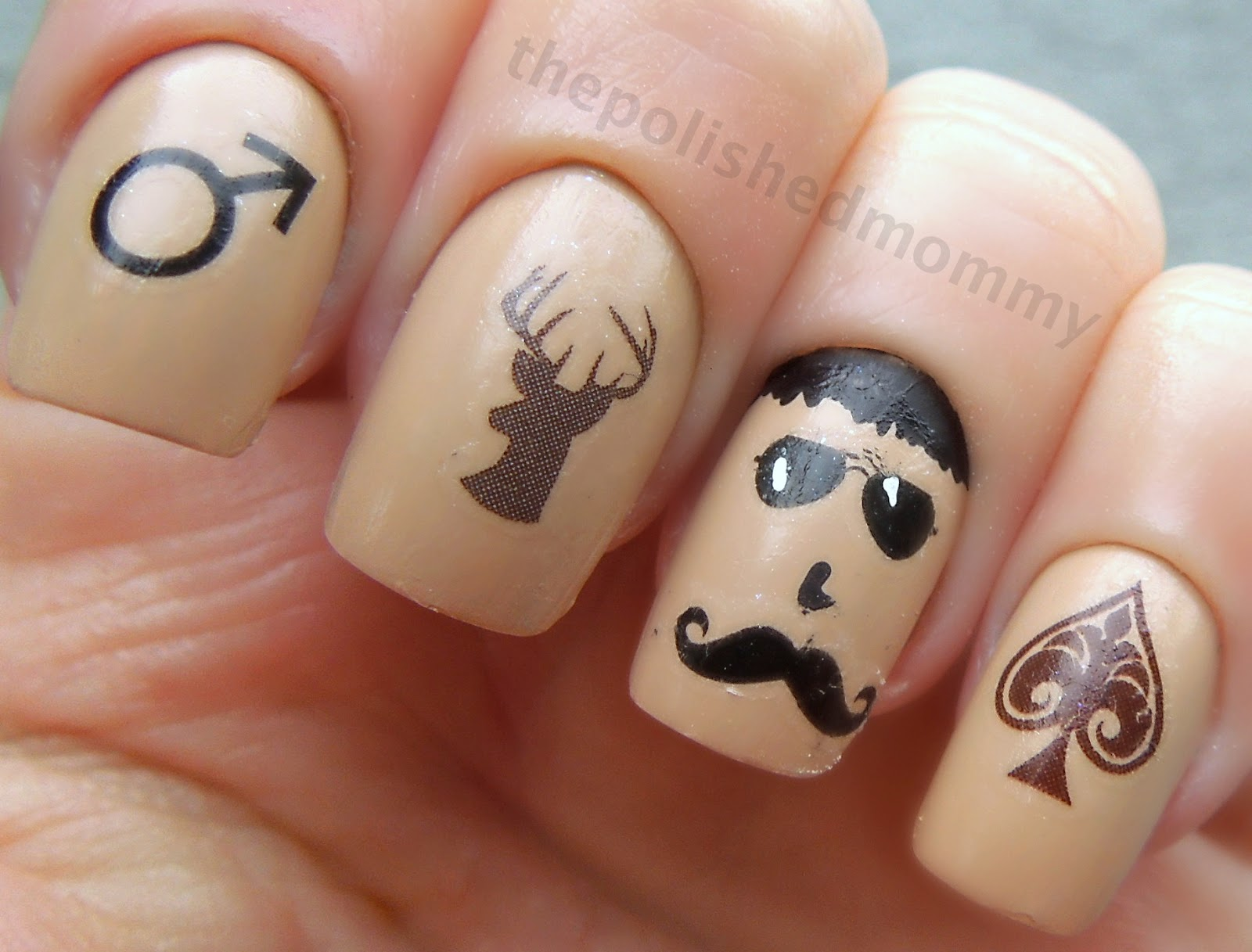 Manly Movember Mani... - The Polished Mommy