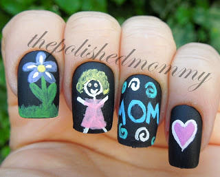 Mom Nail Drawing | Mother's Day Nail Designs | happy mothers day in polish