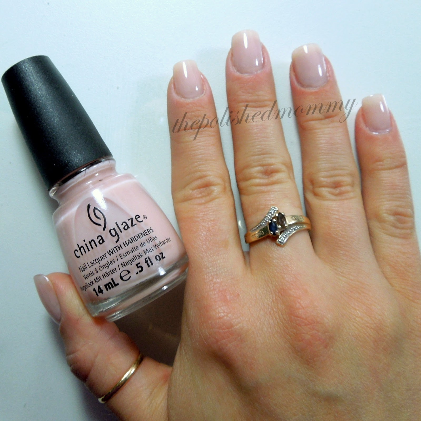 First Paint A Sheer Pale Pink Base Color I Chose China Glaze Innocence 3 Coats Then Apply Quick Dry Topcoat
