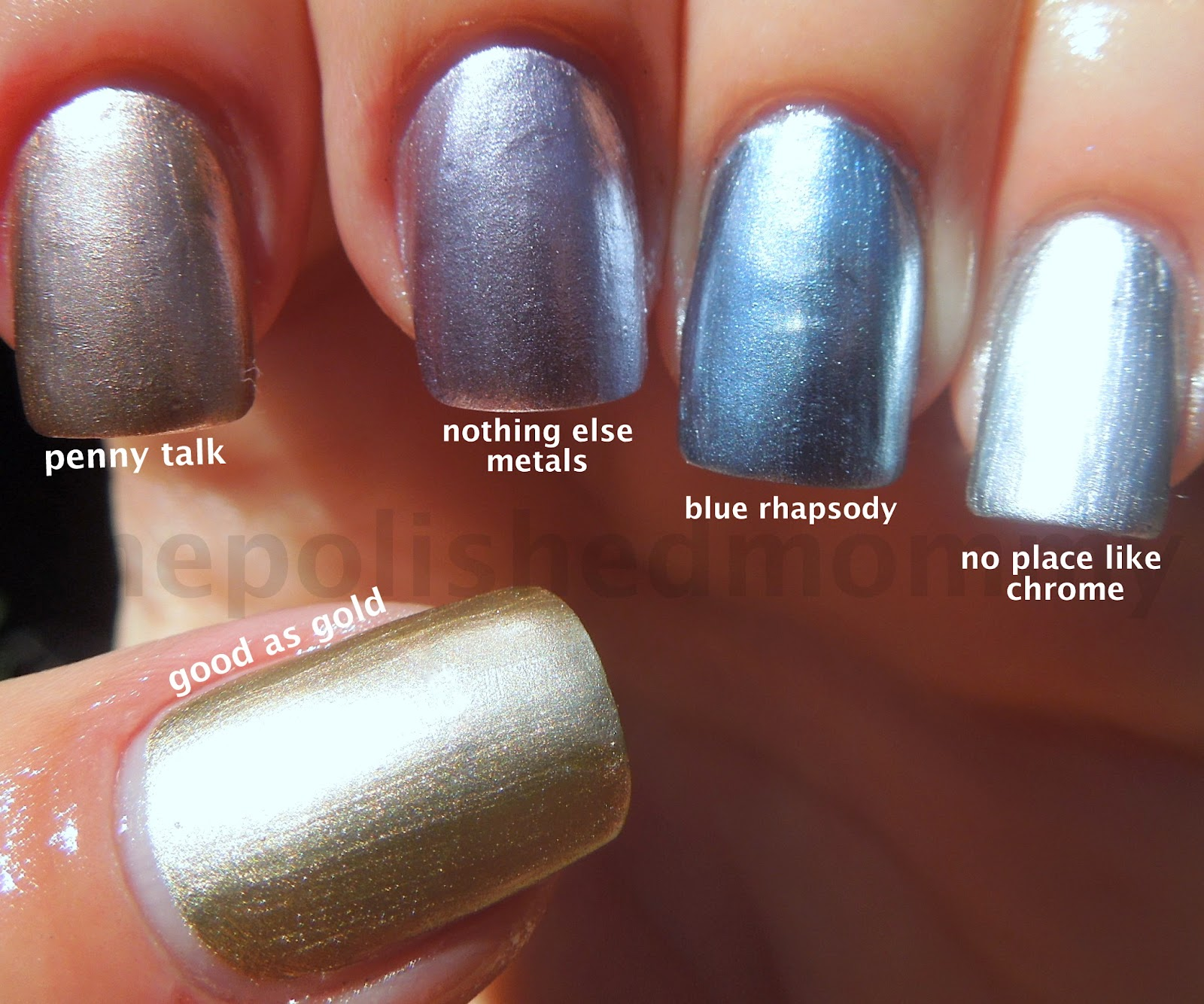Essie Metallic Gold Nail Polish: Essie Mirrored Metallics...