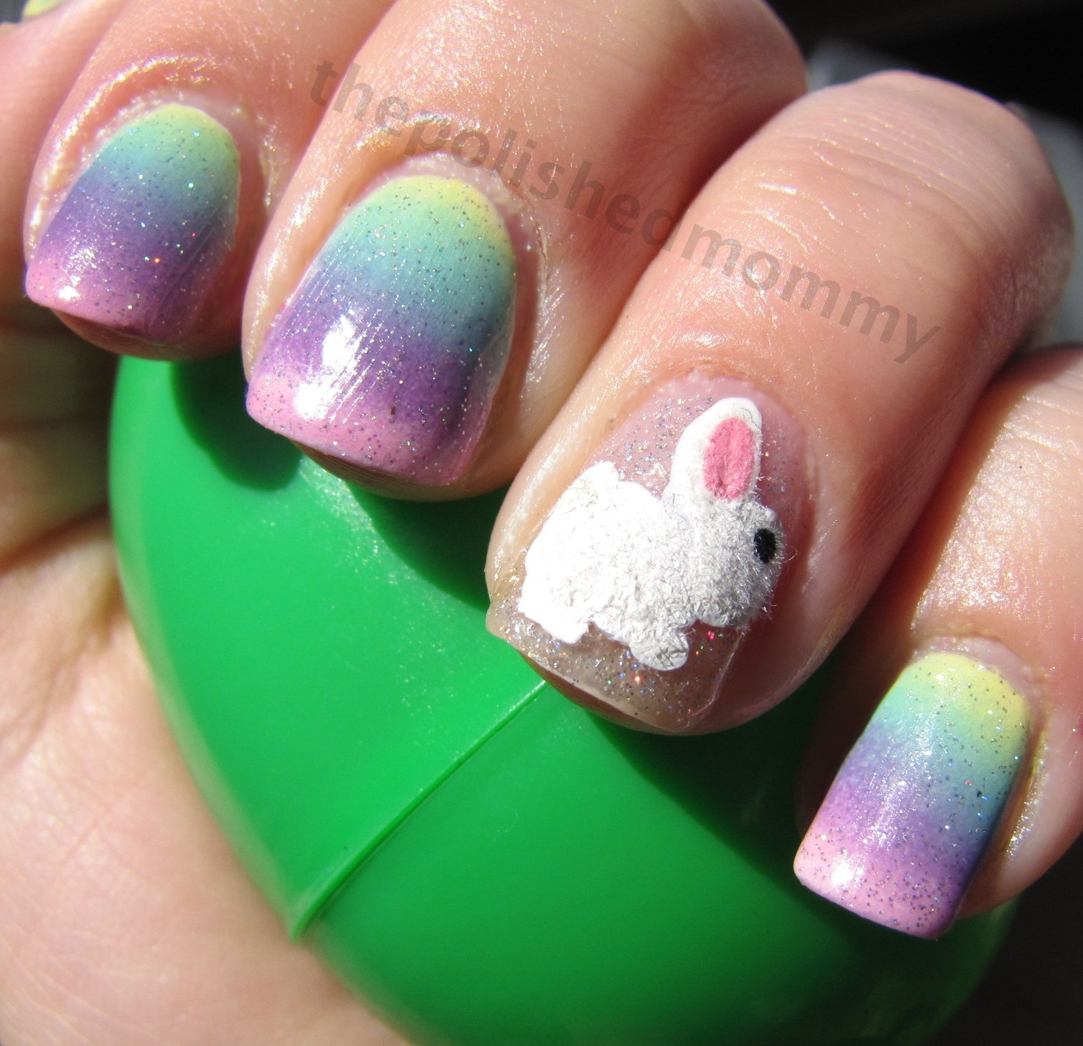 Easter Bunny Nails: The Polished Mommy