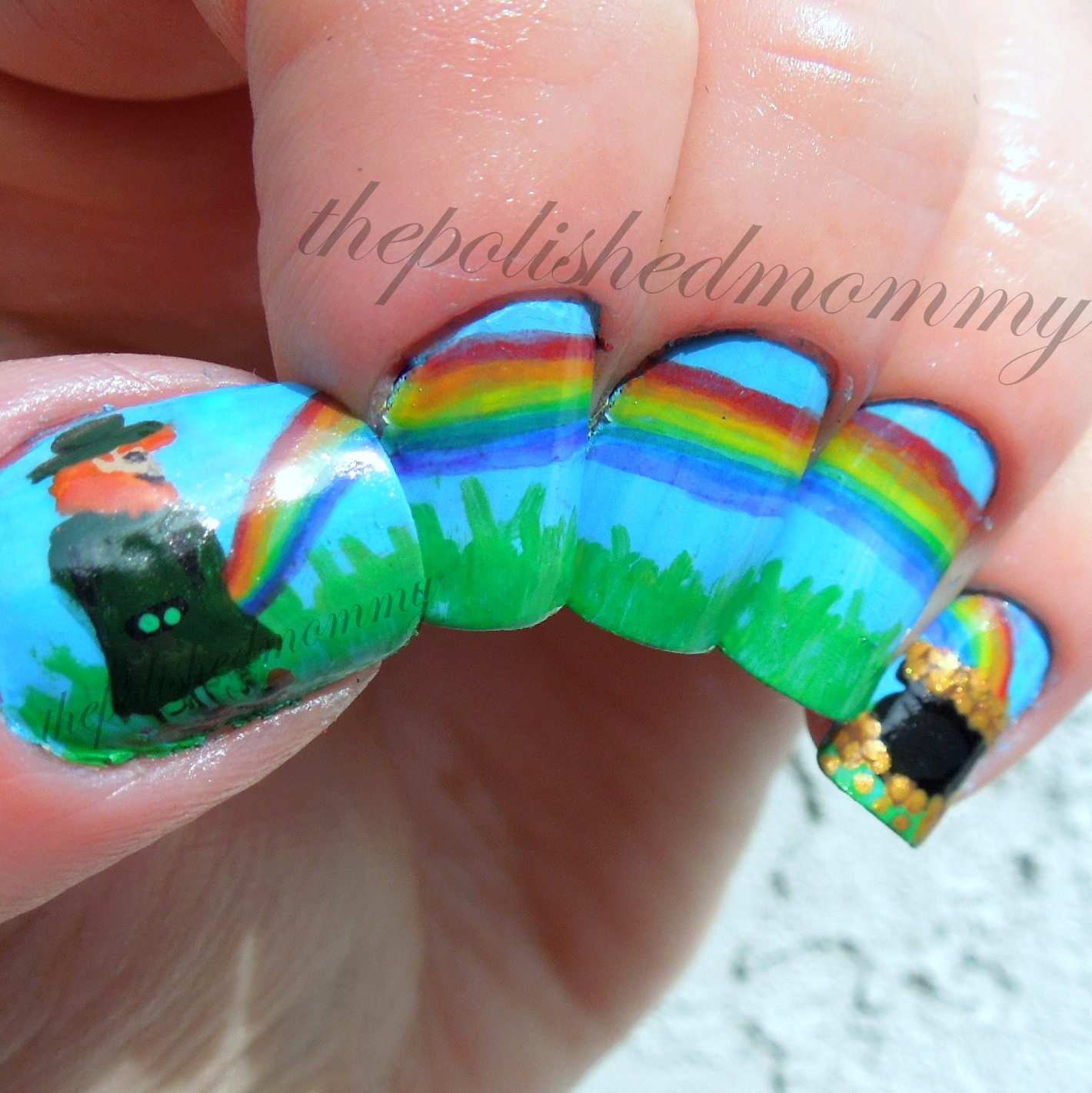 365 Days Of Nail Art March 2014: Don't Taste The Rainbow...