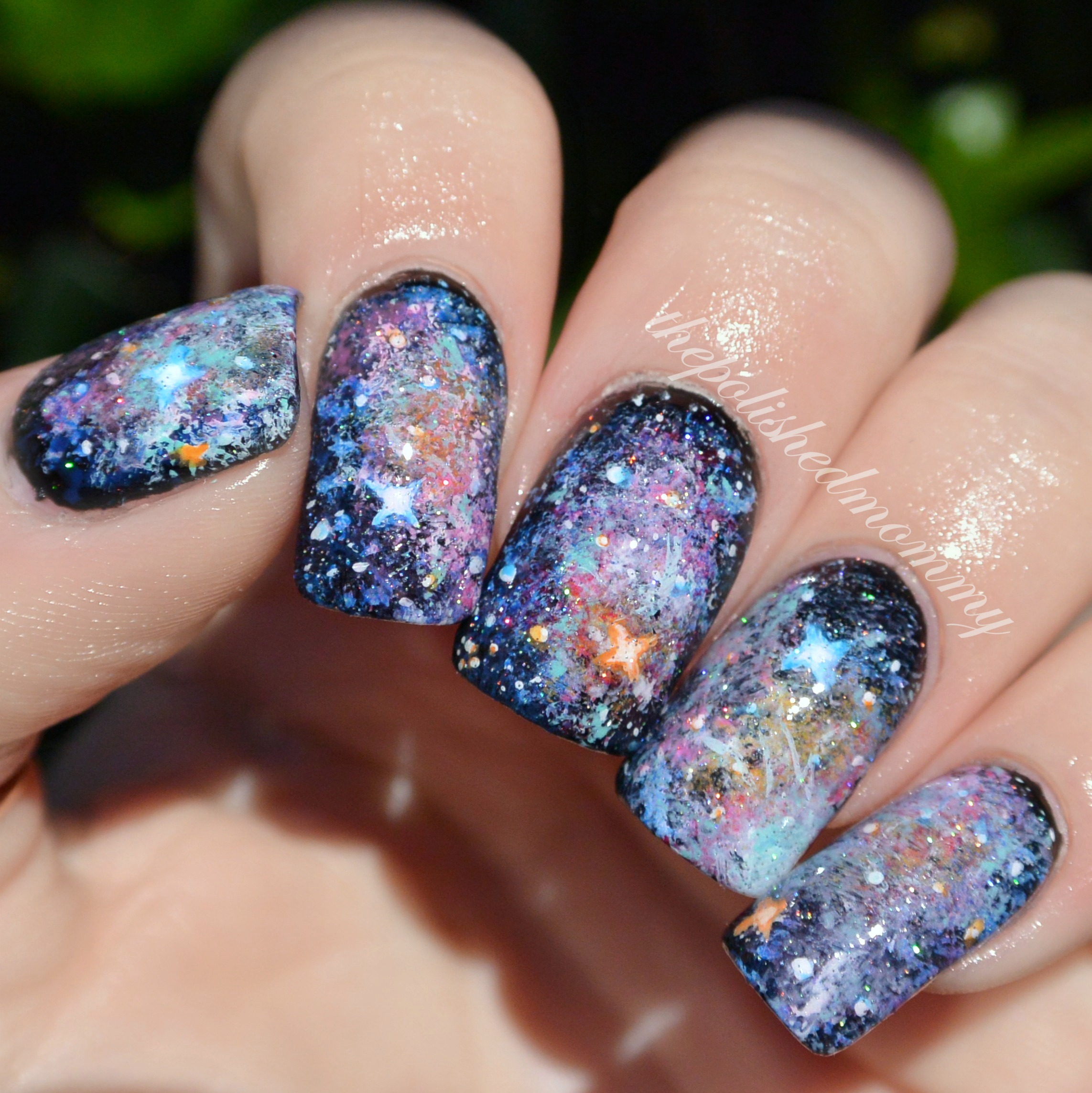 Galaxy Nails... - The Polished Mommy